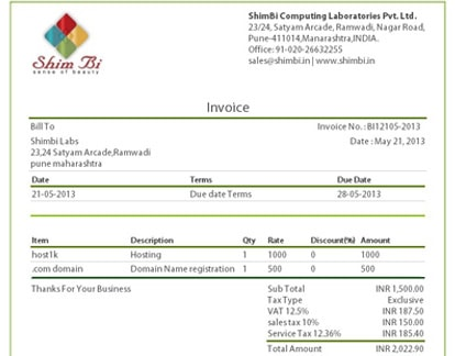 Shimbi Labs  Beautiful Invoices