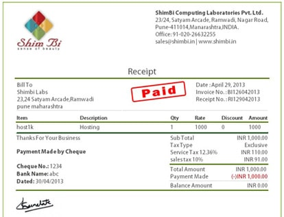 Shimbi Invoice Features  Online Invoicing Software